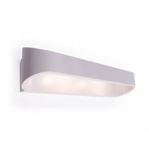 LED Wandlamp / Wandverlichting Ovaal 18W 4000K Natuurlijk Wit 58x7.5x6.8cm Mat Wit Aluminium IP20