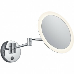LED Wandlamp - Wandverlichting - Trion Vistas - 3W - Warm Wit 3000K - Rond - Glans Chroom - Aluminium