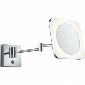 LED Wandlamp - Wandverlichting - Trion Vistas - 3W - Warm Wit 3000K - Vierkant - Glans Chroom - Aluminium