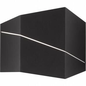 LED Wandlamp - Wandverlichting - Trion Zorran - 6W - Warm Wit 3000K - Rechthoek - Mat Zwart - Aluminium