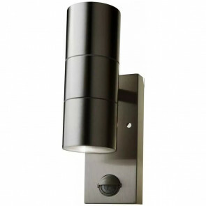 LED Wandlamp - Wandverlichting - Viron Xinom - GU10 Fitting - 2-lichts - Rond - Mat Grijs - RVS