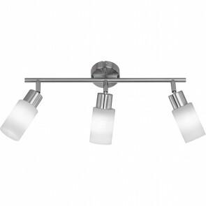 LED Wandspot - Trion Jolin - E14 Fitting - 12W - Warm Wit 3000K - 3-lichts - Rond - Mat Nikkel - Aluminium
