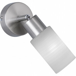 LED Wandspot - Trion Jolin - E14 Fitting - 4W - Warm Wit 3000K - Rond - Mat Nikkel - Aluminium