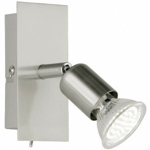 LED Wandspot - Trion Nimo - GU10 Fitting - 3W - Warm Wit 3000K - 1-lichts - Rechthoek - Mat Nikkel - Aluminium