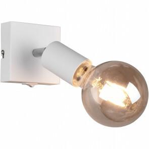 LED Wandspot - Trion Zuncka - E27 Fitting - Vierkant - Mat Wit – Aluminium
