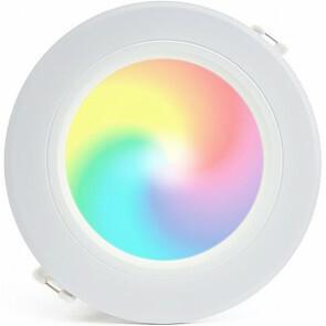 Mi-Light - LED Downlight - Smart LED - 12W - RGB+CCT - Aanpasbare Kleur - Dimbaar - Inbouw Rond - Mat Wit - Aluminium - Ø180mm