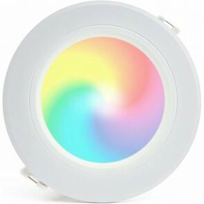 Mi-Light - LED Downlight - Smart LED - 18W - RGB+CCT - Aanpasbare Kleur - Dimbaar - Inbouw Rond - Mat Wit - Aluminium - Ø180mm
