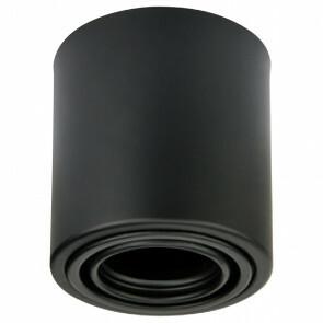 Opbouwspot GU10 - Frino - Opbouw Rond - Mat Zwart - Aluminium - Kantelbaar - Ø93mm