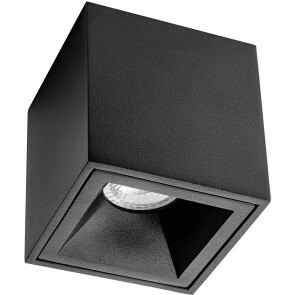 Opbouwspot GU10 - Pragmi Cliron Pro - Opbouw Vierkant - Mat Zwart - Aluminium - Verdiept - 90mm
