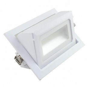 OSRAM - LED Downlight - Inbouw Rechthoek 36W - Warm Wit 3000K - Mat Wit Aluminium - Kantelbaar 230x140mm