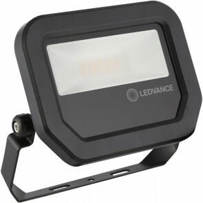 OSRAM - LEDVANCE - LED Breedstraler 10 Watt - LED Schijnwerper - FL PFM SYM 100 BK - Warm Wit 3000K - Mat Zwart - Aluminium