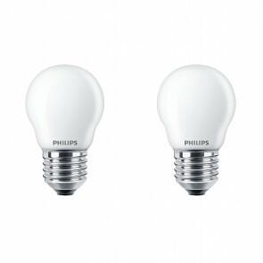 PHILIPS - LED Lamp - Set 2 Stuks - Classic Lustre 827 P45 FR - E27 Fitting - 2.2W - Warm Wit 2700K   Vervangt 25W