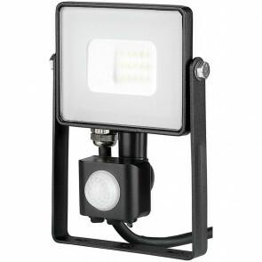 SAMSUNG - LED Bouwlamp 10 Watt met Sensor - LED Schijnwerper - Viron Dana - Natuurlijk Wit 4000K - Mat Zwart - Aluminium