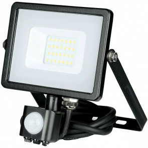 SAMSUNG - LED Bouwlamp 20 Watt met Sensor - LED Schijnwerper - Viron Dana - Natuurlijk Wit 4000K - Mat Zwart - Aluminium