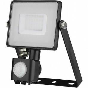 SAMSUNG - LED Bouwlamp 30 Watt met Sensor - LED Schijnwerper - Viron Dana - Natuurlijk Wit 4000K - Mat Zwart - Aluminium
