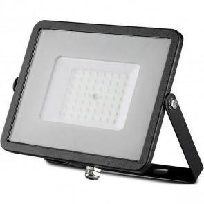 SAMSUNG - LED Bouwlamp 50 Watt - LED Schijnwerper - Viron Hisal - Natuurlijk Wit 4000K - Mat Zwart - Aluminium