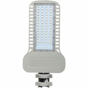 SAMSUNG - LED Straatlamp Slim - Viron Unato - 100W - Helder/Koud Wit 6400K - Waterdicht IP65 - Mat Grijs - Aluminium