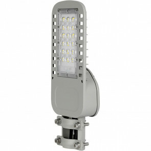 SAMSUNG - LED Straatlamp Slim - Viron Unato - 30W - Natuurlijk Wit 4000K - Waterdicht IP65 - Mat Grijs - Aluminium