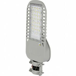 SAMSUNG - LED Straatlamp Slim - Viron Unato - 50W - Helder/Koud Wit 6400K - Waterdicht IP65 - Mat Grijs - Aluminium