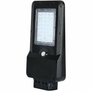 SAMSUNG - LED Straatlamp Solar - Viron Sonni - 15W - Helder/Koud Wit 6000K - Waterdicht IP65 - Mat Zwart - Kunststof