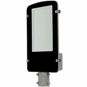 SAMSUNG - LED Straatlamp - Viron Anno - 100W - Helder/Koud Wit 6400K - Waterdicht IP65 - Mat Zwart - Aluminium