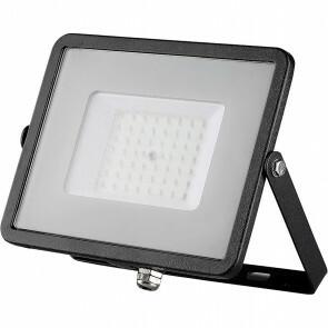 SAMSUNG - LED Bouwlamp 50 Watt - LED Schijnwerper - Viron Ponimo - Natuurlijk Wit 4000K - Kabelverbinding - Mat Zwart - Aluminium
