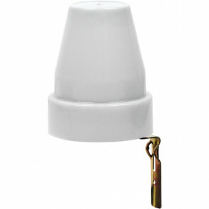 Schemerschakelaar Lichtsensor - Flexina - Spatwaterdicht IP44 - 1200W - 10A - Wit