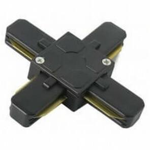 Spanningsrail Doorverbinder - X Kruis Koppeling - 1 Fase - Zwart