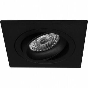 Spot Armatuur GU10 - Pragmi Borny Pro - Inbouw Vierkant - Mat Zwart - Aluminium - Kantelbaar - 92mm