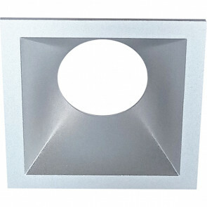Spot Ring - Pragmi Cliron Pro - Vierkant - Mat Zilver