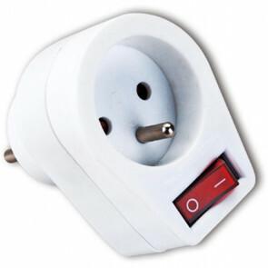 Stekker met Schakelaar - Aigi Azra - 3680W - 1 Stopcontact - Mat Wit - Kunststof | België