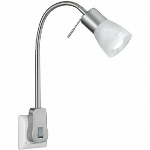 Stekkerlamp Lamp - Trion Levino - E14 Fitting - 6W - Warm Wit 3000K - Mat Nikkel - Aluminium