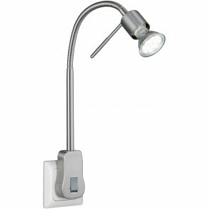 Stekkerlamp Lamp - Trion Loany - GU10 Fitting - 5W - Warm Wit 3000K - Dimbaar - Mat Nikkel - Aluminium