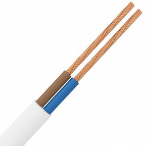 Stroomkabel - 2x1.5mm - 2 Aderig - 10 Meter - Wit