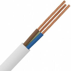 Stroomkabel - 3x1.5mm - 3 Aderig - 20 Meter - Wit