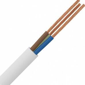 Stroomkabel - 3x2.5mm - 3 Aderig - 10 Meter - Wit