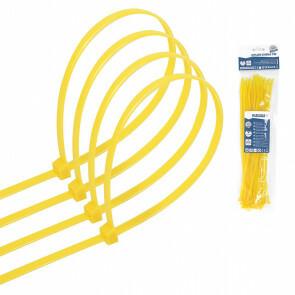 Tie Wraps - Tyrap - Aigi Tie - 3.6x250mm - Geel - 40 Stuks