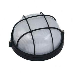 Tuinverlichting / Buitenverlichting / Buitenlamp / Wandlamp Rond Mat Zwart 17x8cm Modern Aluminium/Glas E27 IP54
