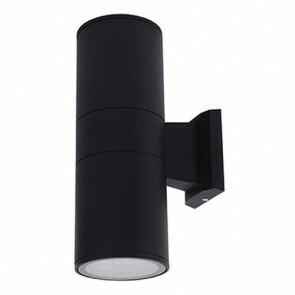 Tuinverlichting / Buitenverlichting / Buitenlamp / Wandlamp Rond Mat Zwart 30x17.3cm Modern Aluminium/Glas E27 IP44 Dubbel