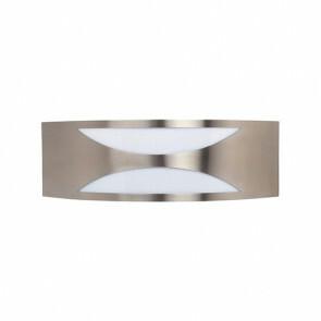 Tuinverlichting / Buitenverlichting / Buitenlamp / Wandlamp Vierkant/Ovaal Mat Chroom 31.5x10cm Modern RVS/PC E27 IP44 Dubbel