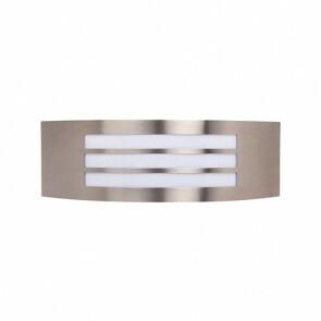 Tuinverlichting / Buitenverlichting / Buitenlamp / Wandlamp Vierkant/Ovaal Mat Chroom 31.5x10cm Modern RVS/PC E27 IP44 Triple