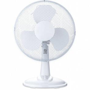 Ventilator - Aigi Lyno - 40W - Tafelventilator - Staand - Rond - Mat Wit - Kunststof