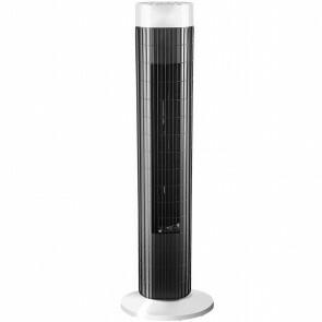 Ventilator - Aigi Stuno - Torenventilator - Staand - Rond - Mat Zwart - Kunststof