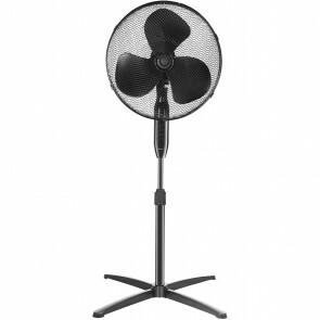 Ventilator - Aigi Uyno - Statiefventilator - Staand - Rond - Mat Zwart - Kunststof