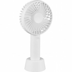 Ventilator met Water op Batterijen - Trion Wando - Mistventilator - Mini Tafelventilator - USB Oplaadbaar - Rond - Mat Wit