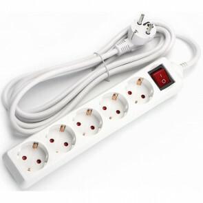Verlengsnoer - Aigi Frutsi - 3680W - 5 Stopcontacten - 1.5 Meter - Wit