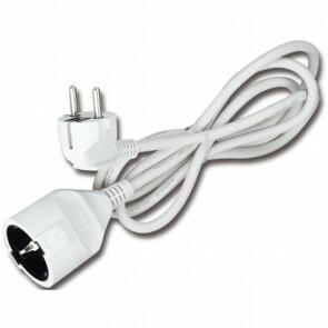Verlengsnoer - Aigi Gamon - 3680W - 1 Stopcontact - 2 Meter - Wit