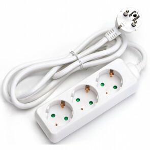Verlengsnoer - Aigi Synci - 3680W - 3 Stopcontacten - 3 Meter - Wit