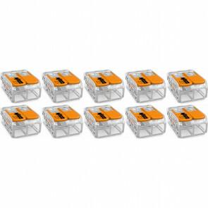 WAGO - Lasklem Set 10 Stuks - 2 Polig met Klemmetjes - Oranje