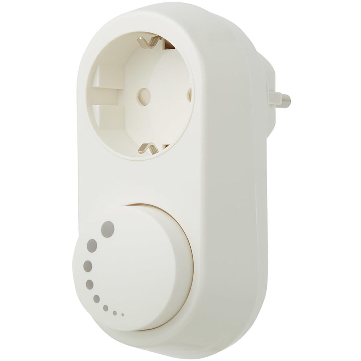 EcoDim - LED Stekkerdimmer - Smart WiFi - ECO-DIM.06 - Fase Afsnijding RC - ZigBee - Opbouw - Enkel